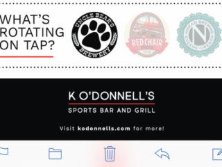 K O'Donnell's Sports Bar & Grill - Email Marketing